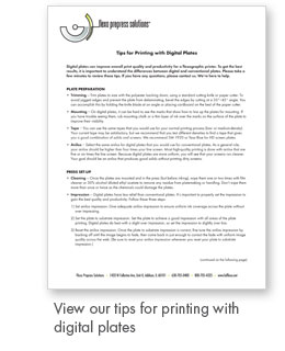 FPS Tips for Printing with Digital Plates